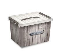 Sunware Aufbewahrungsbox Q-Line 22 l mit Deckel Kunststoffbox Stapelbox Lagerbox