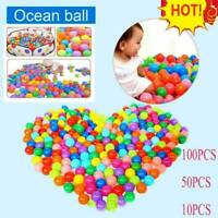 50pcs Colorful Soft Ocean Ball Secure Baby Kids Boy Girl Pit Toy Swim Fun Play