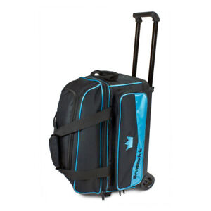 Brunswick Zone 2 Ball Double Roller Sky Blue Bowling Bag
