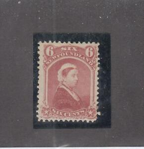 NEWFOUNDLAND (MK5395) # 35  VF-MH  6cts 1870  QUEEN VICTORIA /DULL ROSE CV $50