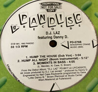 "DJ Laz - Moments In Bass/Hump All Night Feat Danny D (12"" Promo Vinyl VG++)"