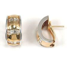 Echte Clip-Ohrschmuck im Clip-Stil aus mehrfarbigem Gold