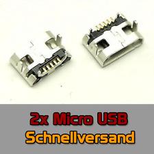 2x Ladebuchse für Tablet eBook MicroUSB, Universal Medion 5 Pin