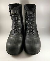 Lacrosse Iceman Duck Work Boots Steel-Toe Mens Sz 9 Black Hunting Made in USA