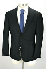 NWT $1350 RING JACKET Balloon Wool Coat 42 R Black Woven Japan Two Button 52 EU