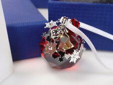 SWAROVSKI CHRISTMAS ORNAMENT, LIGHT SIAM SATIN MIB #1144685