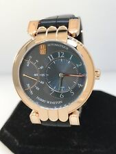 HARRY WINSTON PEMIER EXCENTER 18K ROSE GOLD GREY DIAL AUTOMATIC MEN'S WATCH!!!
