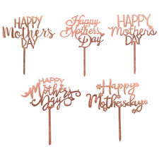 10pcs Mothers Day Cake Toppers Letter Cake Picks Cake Decoration Cupcake Toppers