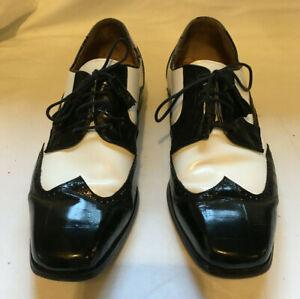 Florsheim Barletta Black White Shoes Alligator Dancing Tuxedo Gangster 12D