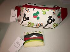 New Loungefly Disney Mickey Mouse Food Fanny Pack & Card Holder