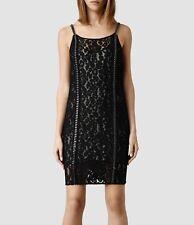 New All Saints, Asha dress black embellished lace Size UK 10  RRP £278