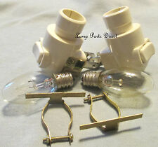 (Lot of 2) Night Lights-Ivory  - on/off - Includes 4w Bulb & Brass Clip