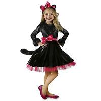 Child Girl's Barbie Kitty Cat Halloween Costume Mesh Dress Ear Headband XS M