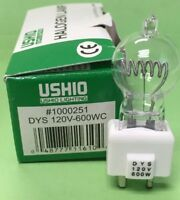 USHIO HALOGEN LAMP JCD-11 120V-600WC DYS 1000251 NEW IN BOX #1000251 600W 120V