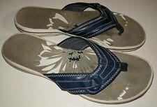 Women's Clarks navy blue adjustable thong flip flops size 11  / 42.5