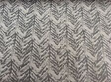 Grey Tiger Stripe Chevron Textured Weave  Curtain/Upholstery/Craft Fabric