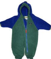 L.L.Bean Kids Toddler One Piece Infant Hi-Loft Fleece Coveralls Size 6-12 Month