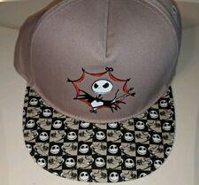 Disney Parks Nightmare Before Christmas Jack Skellington Flat Brim Hat Cap New