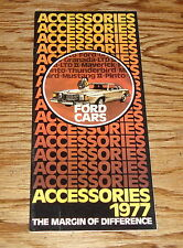 Original 1977 Ford Car Accessories Sales Brochure 77 Mustang Thunderbird