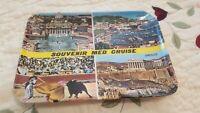 Vintage Souvenir Med Cruise Plate/Dish 6 x 4.