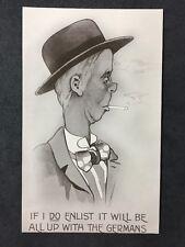 Rare Vintage Postcard - Artist Signed #A22 - WW1 Propaganda - Valentines