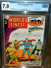 WORLD'S FINEST #164 CGC 7.0 BATMAN SUPERMAN BRAINIAC