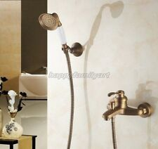 Antique Brass Wall Mounted Bathroom Hand Shower/ Tub Mixer Faucet Set ytf302