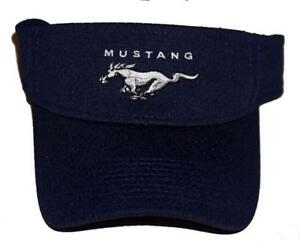 FORD MUSTANG VISOR IN NAVY BLUE ADULT SIZED SOLD EXCLUSIVELY HERE