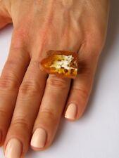 Ring Bernstein Silberring Bernsteinring einstellbar Amber ORANGE Silber 925