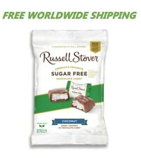 Russell Stover Sugar Free Coconut Chocolate Candy 3 Oz FREE WORLDWIDE SHIPPING