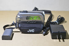 JVC EVERIO 30G HARD DISK CAMCORDER MODEL GZ-GM255U WITH POWER SUPPLY WORKS GREAT