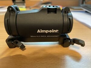 Aimpoint Micro H-2 Rotpunktvisier inkl. Linsenabdeckung u. original Blaser Satte