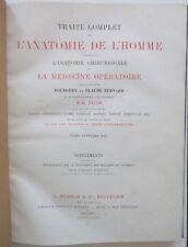 BOURGERY TRAITE DE L'ANATOMIE DE L'HOMME TOME 7 BIS EO en COULEURS MEDECINE 1871