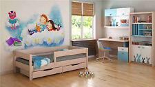 Single Bed - Mix for Kids Children Toddler Junior 140x70 Light Oak Yes None