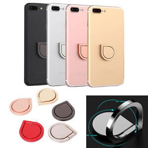 360 Metal Grip Finger Ring Universal Stand Holder for iPhone Cell Mobile Phone D