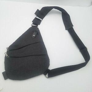Gray Sling Bag Chest Shoulder Fanny Back Back Crossbody Backpack for Men Women