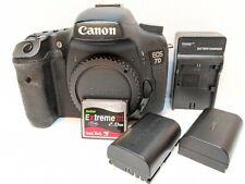Canon EOS 7D Digital SLR Camera Body + BONUS 2nd Battery + Memory Card