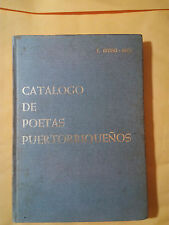 Catalogos de Poetas Puertorriqueños - S. Arana Soto - 1968