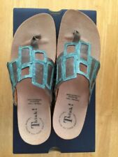 THINK EU 41 Julia Windows Thong Sandal / Turquoise / NEW