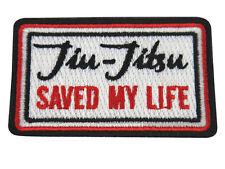 Jiu Jitsu BJJ Gi Patch JIU-JITSU SAVED MY LIFE Jiu Jitsu Gift IRON-ON CHRISTMAS