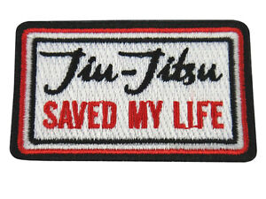 Jiu Jitsu BJJ Gi Patch JIU-JITSU SAVED MY LIFE Jiu Jitsu Gift IRON-ON CHRISTMAS
