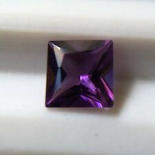 1x Princess (Square) Cut AMETHYST 2nd Grade- 4mm Square-Good Medium Purple