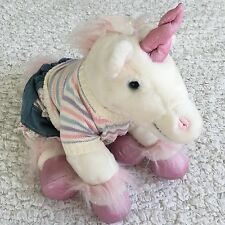 """Build a Bear Unicorn Horse Pink Sparkle  Horn Feet 14"""" L  Comes With 3 Pc Outfit"""