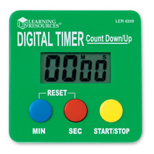 Learning Resources Digital Timer, Count Down/Up, Displays Ler4339