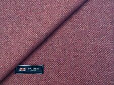 100% WOOL TWEED FABRIC, MIXTURE PINK/LILAC PLAIN TWILL - MADE IN ENGLAND