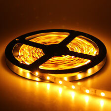 5M 500CM 3528 Warm White 60LED/M SMD Flexible Light Strip Rope Ribbon DC 12V