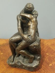 """The Kiss"" SCULPTURE - Nude Couple Lovers - Auguste Rodin (Austin Productions)"