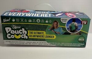 Pouchcouch Light Carrying Pouch/Inflatable Couch Beach Tailgate Lounger Green