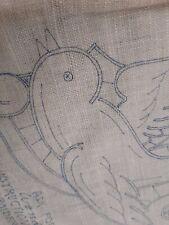 Wonder Art Linen Dove Motif Buffet Scarf Stamped Embroidery #831
