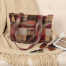 VHC Rustic Tote Wyatt Everyday Handbags Red Cotton Patchwork